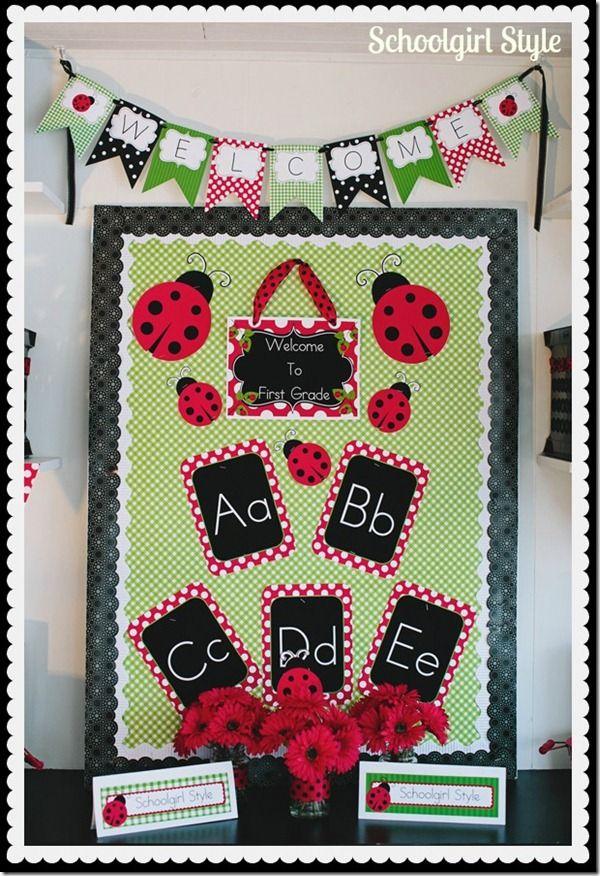 Schoolgirl_Style ladybug theme 10 - adapt for author study flower boxes next year