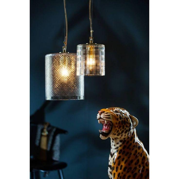 Barbara large diamond - porcelain leopard