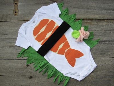Sushi Costume. haahaa! Love it!