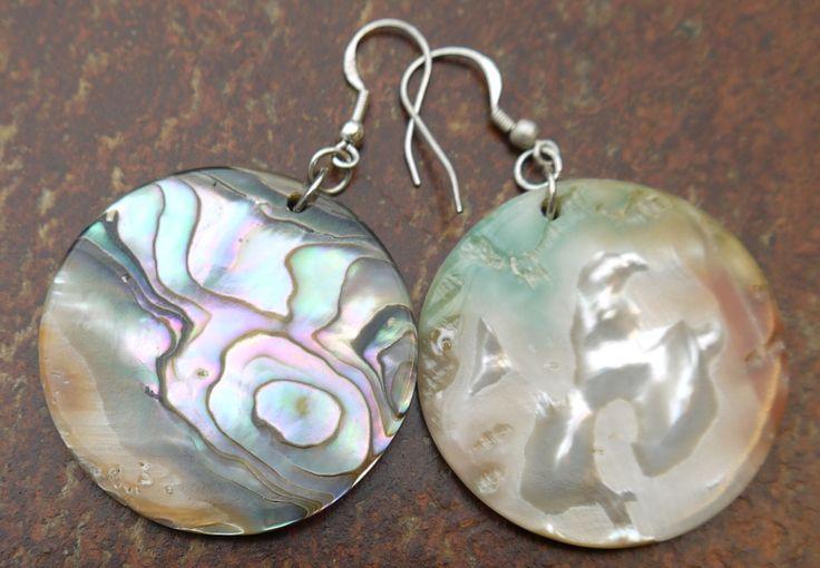 Abalone earrings #WinterArtMarket2015