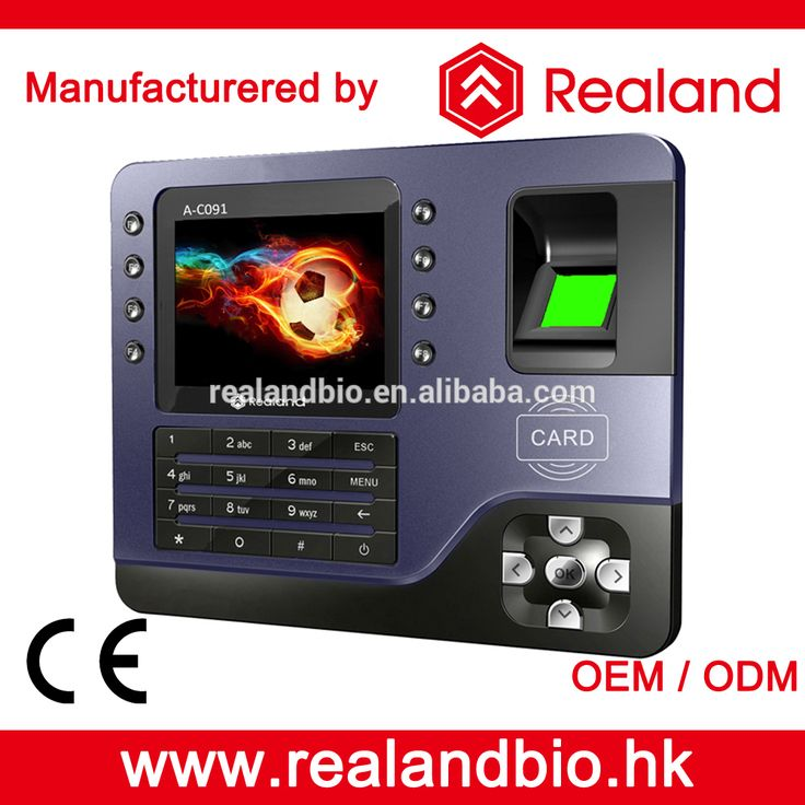 Realand A-C091 Biometric Fingerprint Time Attendance System Biometric Time Clock with RFID Mifare Card Time Attendance Record