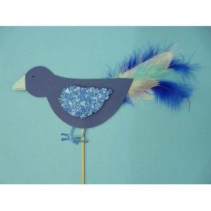 Kinder basteln: Eine schöne Bastelidee für Kinder. Einen netten Vogel mit Federn basteln. Eignet sich super für Kindergärten und Kindergeburtstage. Für den Vogel brauchst du nur eine Packung Fotokarton, Federn, einen Aludraht, Weißleim, einen Holzstab, Flockenfarbe und Farbschnipsel in blau. Hier findest Du die komplette Bastelanleitung: http://www.trendmarkt24.de/bastelideen.kinder-basteln-einen-netten-vogel.html#p