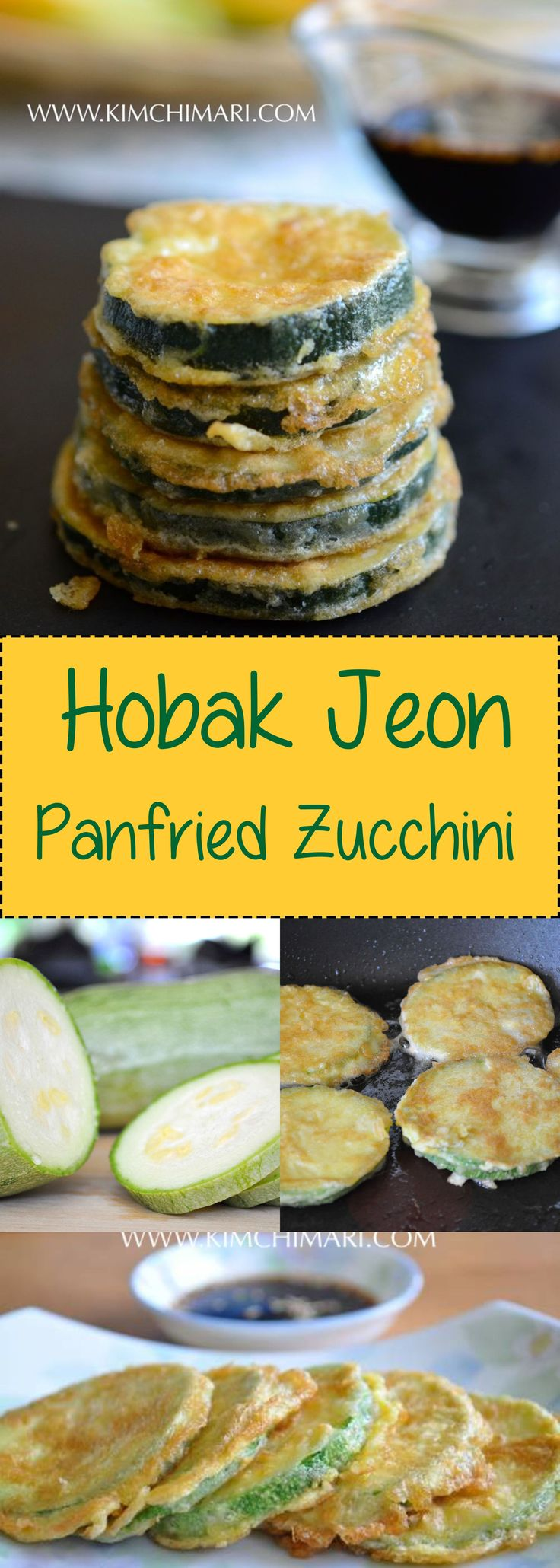 Pan Fried Grey Zucchni Squash is simple and delicious. Salting the squash ahead of frying makes all the difference!  | Kimchimari.com