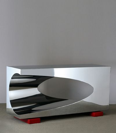 I Love The Herve Van Der Straeten Chrome Console From Ralph Pucci Showroom