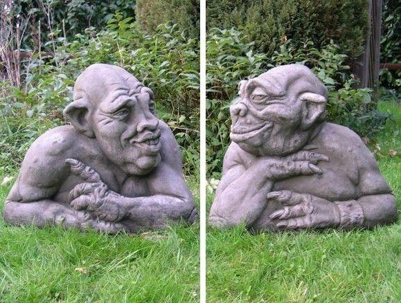 Old Garden Statue: Old Geezers Garden Gargoyles...funny For Our Pool