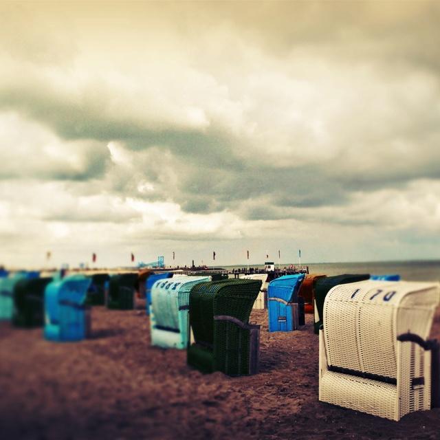 #Insel #Föhr #Strand #Strandkorb #Clouds