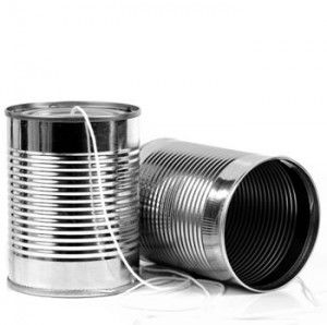 Tin can phone - When i was little i remember cutting holes in the flyscreens to phone my sister in the next room