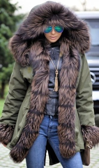 84705c1d57d NEW AMERICAN ARMY PARKA   FOX FUR COAT