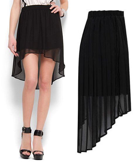 80025796a Modelos de faldas negras largas | Ropa | Faldas negras, Falda modelo ...