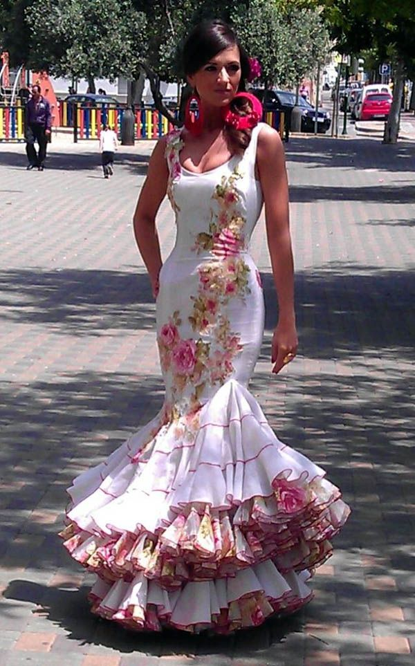 Beautiful floral flamenco dress