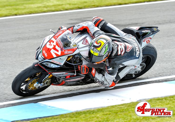 Lorenzo Savadori, winner at Imola Circuit with Aprilia and Sprint Filter P16 air filter