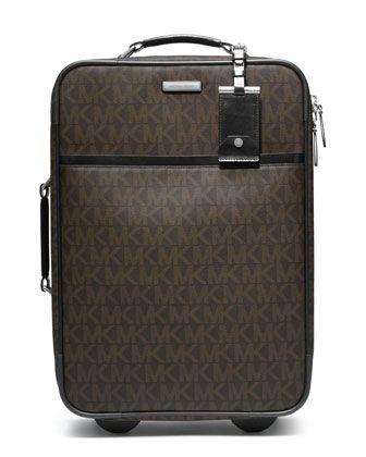 Michael Kors Logo PVC Rolling Suitcase.