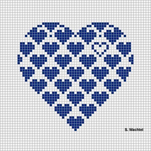 Punto croce - Schemi Gratis e Tutorial: S.Valentino a punto croce