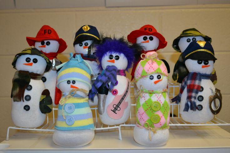 sock snowman craft - Google Search