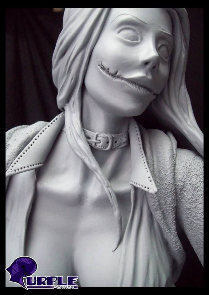 made of pliable dough, hand-molded the female version of the famous villain the Joker