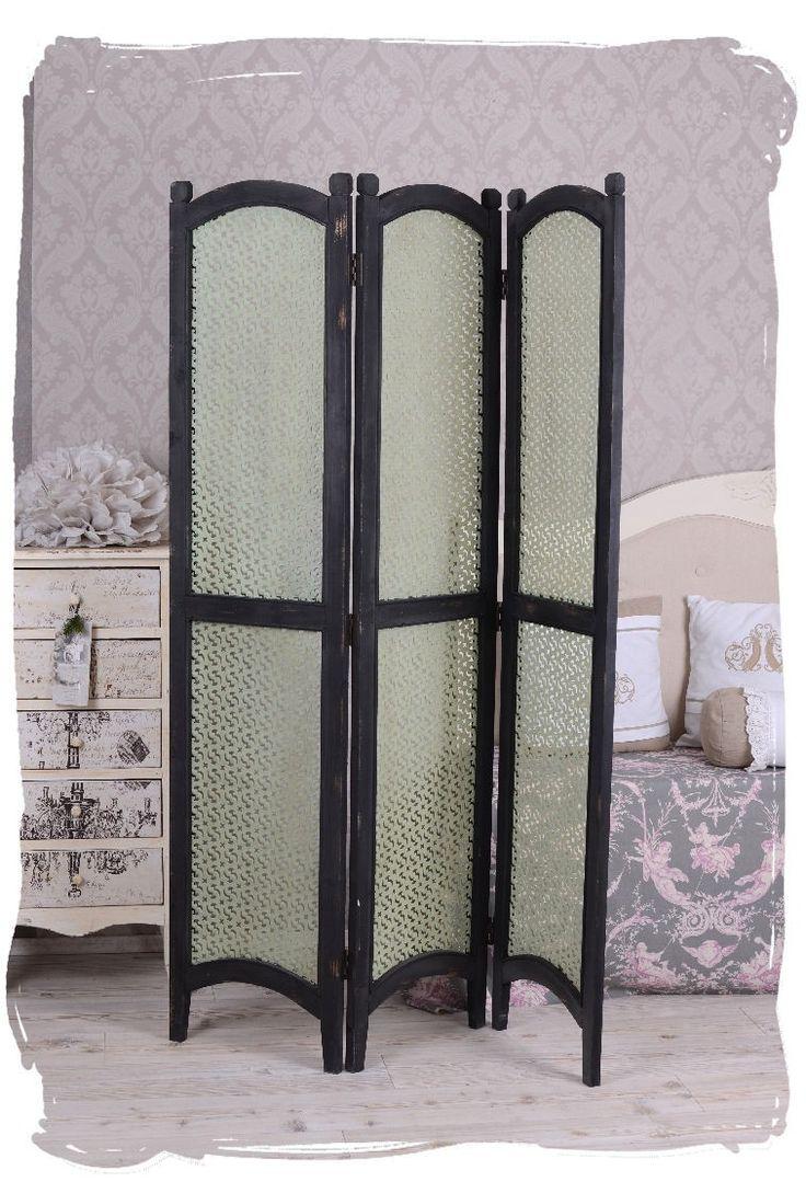 Superb Sichtschutz Holz Raumteiler Paravent Vintage Trennwand Antik