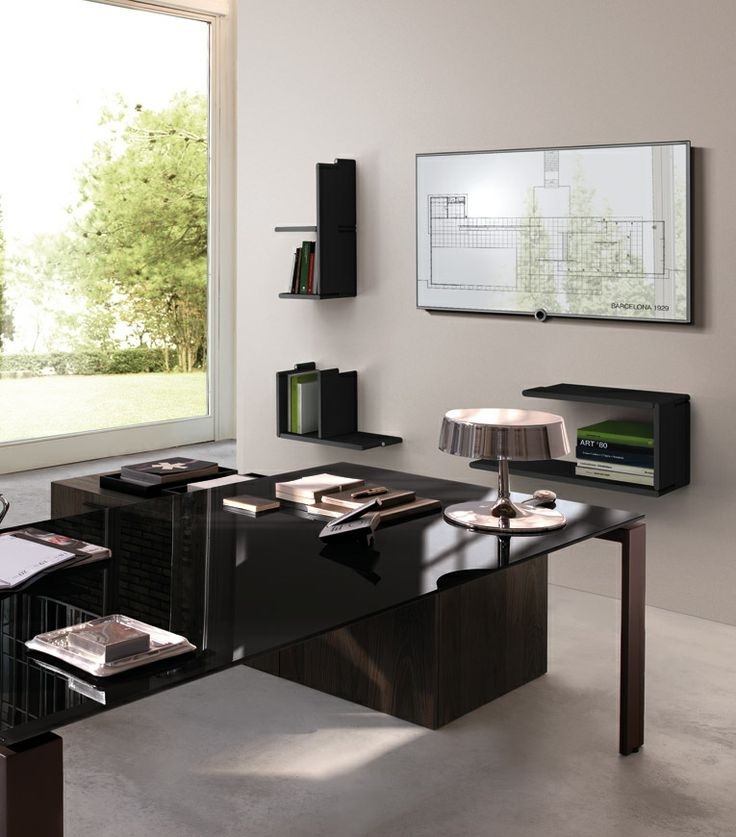 What a solution in your office! You don't waste space and you keep a cool look!
