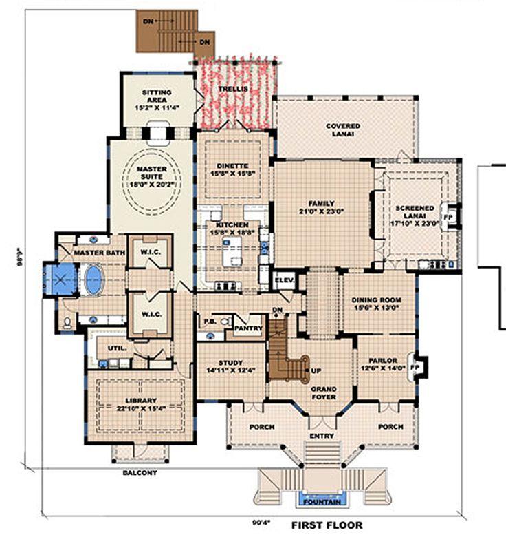 Plain Big House Plans Style Plan 4 Beds 45 Baths 13717 Sqft Intended Decor