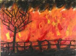 Artwork - 'The Black Shadow', Healesville Primary School, 2009