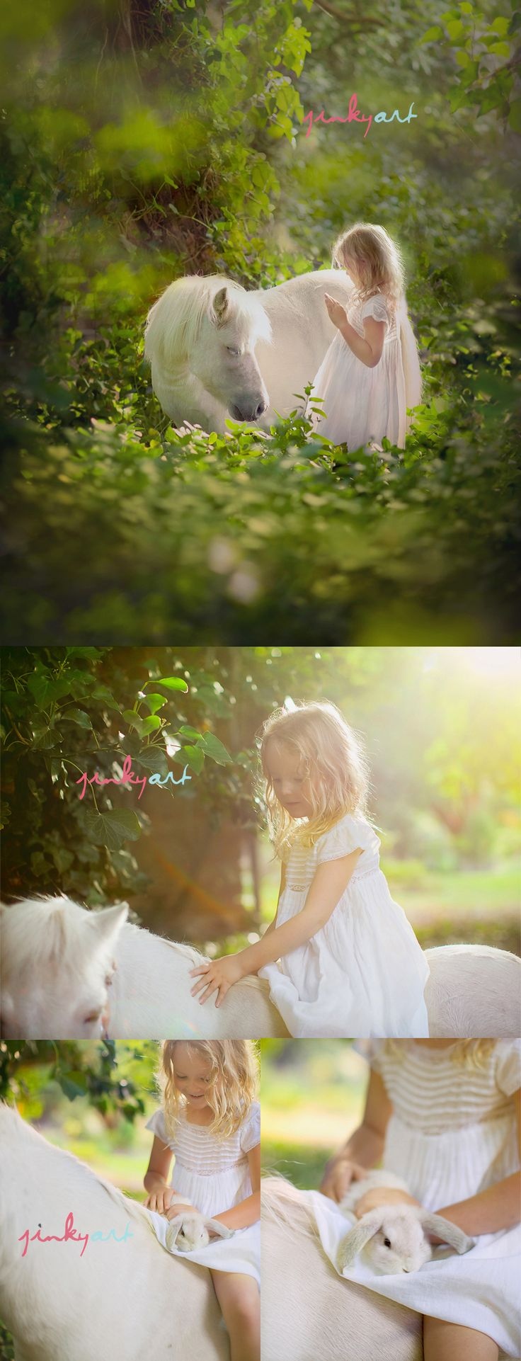 A girl and her pony.Little Girls, Photos Ideas, Jinky Art, Art Photography, Photos Shoots, White Horses, White Dresses, Photo Shoots, Jinkyart