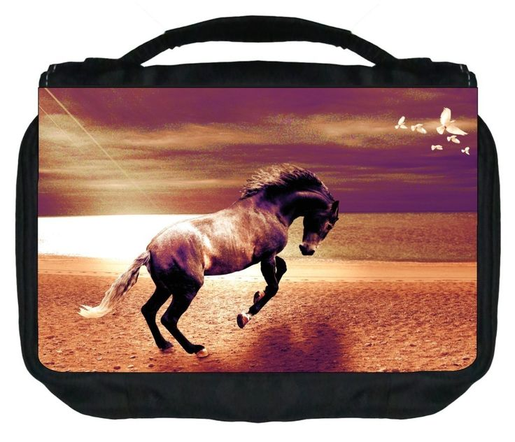 Graceful Horse TM Small Travel Sized Hanging Cosmetic/Toiletry Case with 3 Compartments and Detachable Hanger-Made in the U.S.A. >>> Click on the image for additional details. (Note:Amazon affiliate link)