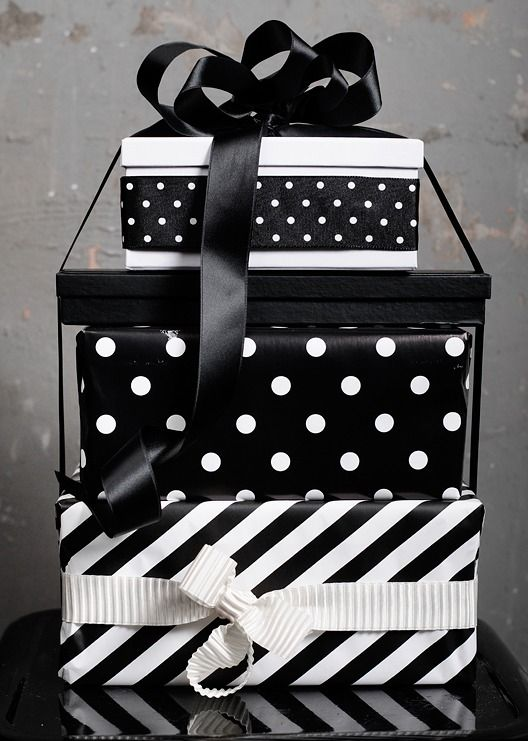 Black and White gift wrapping ..