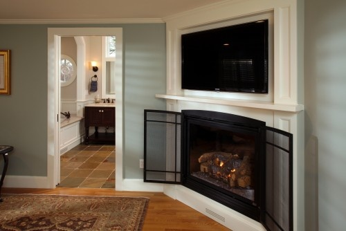 Built In Tv Over Corner Fireplace Need An Area For Components Etc Bottom Is All Wrong A Gas The More I Think About This