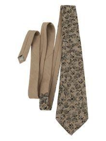 Сіра краватка з вишивкою трьома відтінками сірого