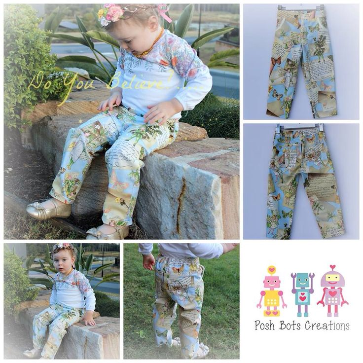 Sweetest little handmade fairy jeans for a gorgeous baby <3 #patternemporium #babyclothes #cute