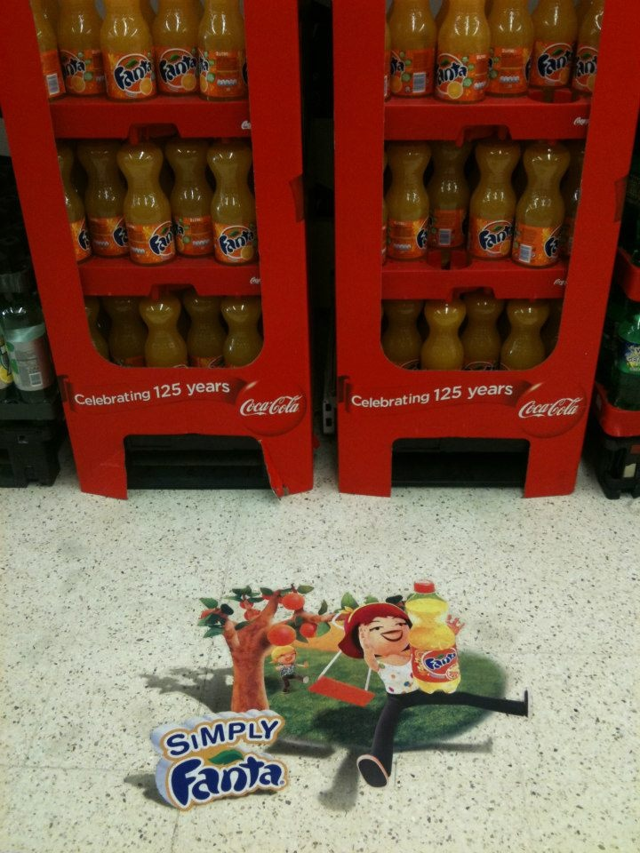 Floor Graphic campaign across retail stores in Ireland created for Fanta and rolled out by Visualise, our partner in Ireland