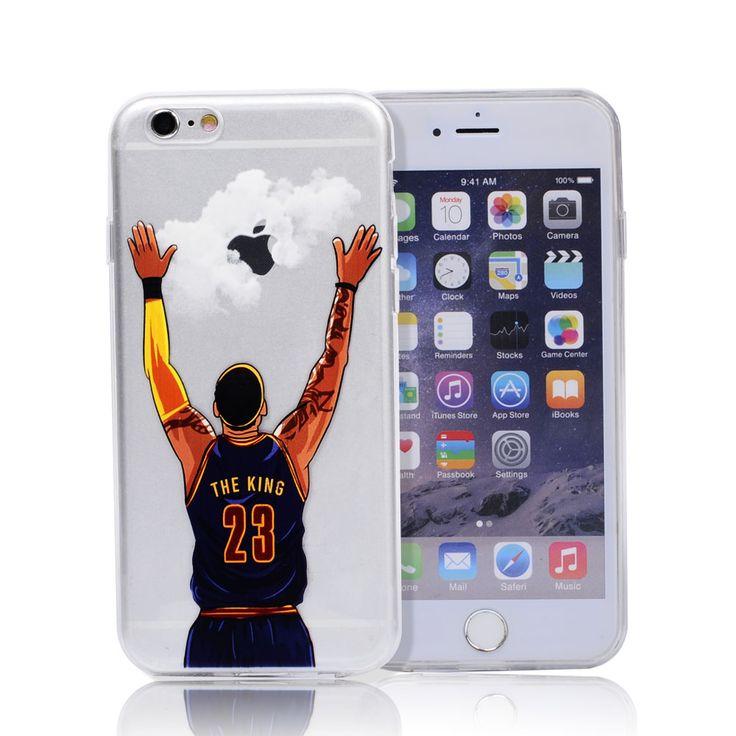 NBA Case for Iphone 7 7 plus Michael Jordan 23 LeBron James Harden Curry Kobe Bryan back cover coque fundas