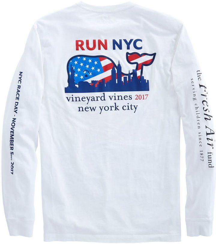 Vineyard Vines Long-Sleeve 2017 NYC Marathon T-Shirt