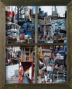 'Where I Would Like to Live…' by artist Ana Silva. Bid on this photo-collage at our Art Auction on April 13th raising funds for the homeless in Toronto! Material: photo-collage.