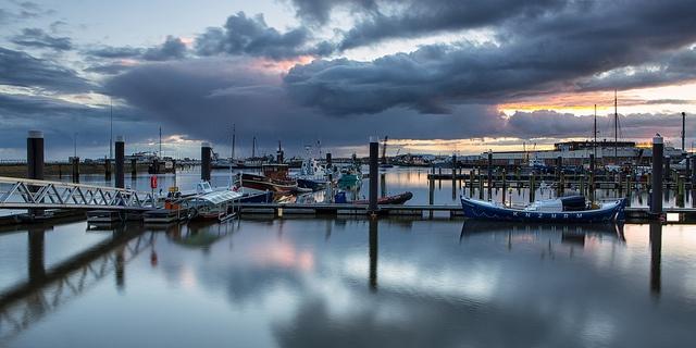 Northern Skies - Lauwersoog Harbor, The Netherlands, via Flickr.