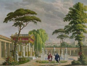 Gardens of the House of Diomede at Pompeii, decoration for the opera The Last Days of Pompeii by Giovanni Pacini 1796-1867, performed at La Scala, Milan, 1827 Alessandro Sanquirico