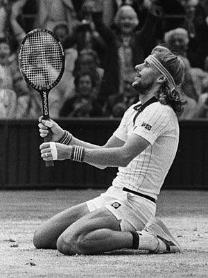 """Bjorn Borg - """"Mi mejor virtud es la persistencia. Nunca me rindo en un partido. Por muy abajo que vaya, peleo hasta la última bola."""""""