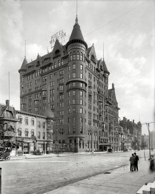 Hotel Walton in Philadelphia, circa 1908. #hotels #architecture