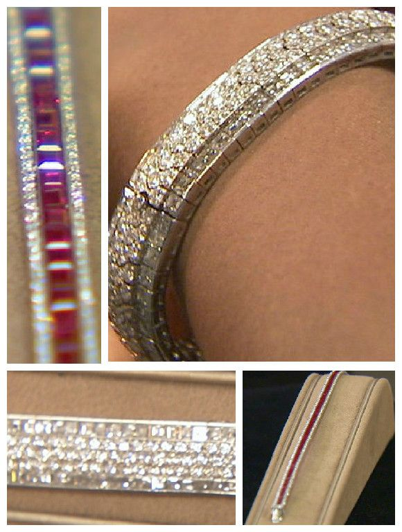 """Which """"wrist candy"""" will be on the red carpet, and who will be wearing it? Did the 5 carets of rubies and 1.5 carets of diamonds catch the eye, or was it the Van Cleef & Arpels, 18k white gold with 42 carets of diamonds, that made the sale? Find out on Beverly Hills Pawn, on REELZ."""