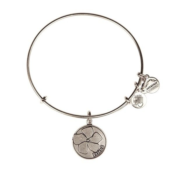 Alex and Ani Friend Bangle Bracelet silver A daughter fills the world with beauty. She brings new life and embodies a dream of possibility for the future. The purity of a daisy is also associated with the first discovery of love, much like a mother's sentiment towards her daughter. Give or wear the Daughter Charm for the girl who changes the world and makes every experience brighter. Alex & Ani Jewelry Bracelets