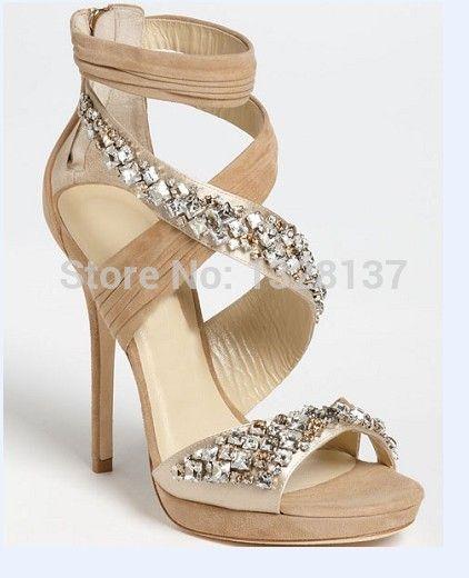 88 Sandales à talons nude chaussures noires en daim chaussures à talons hauts femmes Sandales plateforme chaussures de hauts talons minces Chaussures Femme strass dans Ballerines pour femmes de Chaussures sur AliExpress.com | Alibaba Group