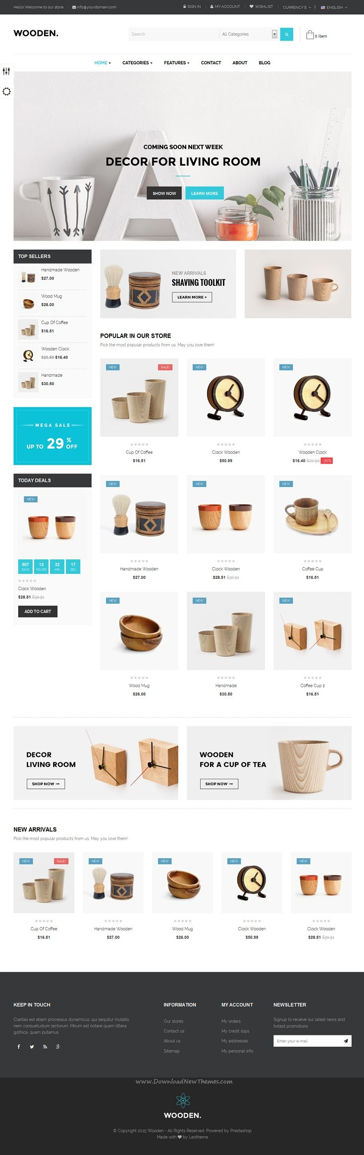 Leo wonderful Wooden Responsive #Prestashop Theme is for multipurpose #eCommerce #website.