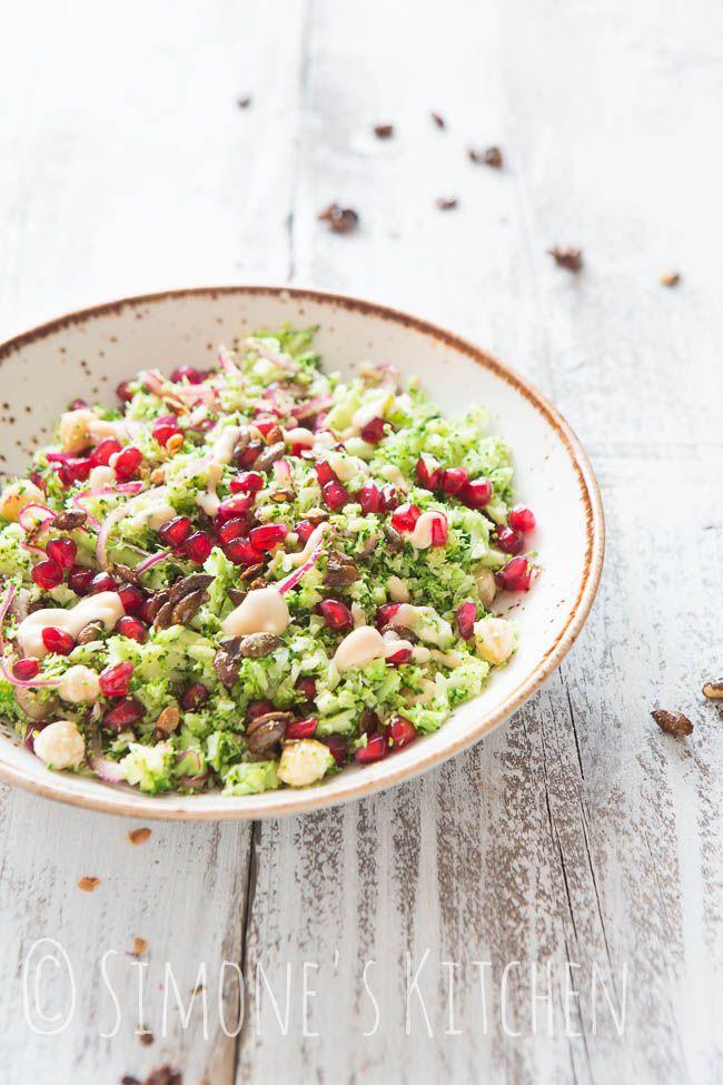Broccoli salade met granaatappel | simoneskitchen.nl
