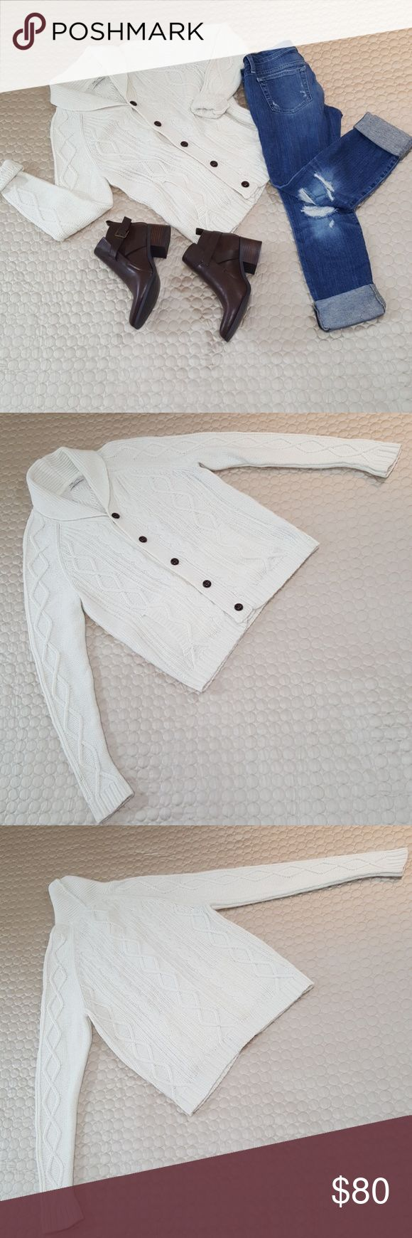"""H.E. Oversized Boyfriend Cardigan In excellent like new condition... H.E. boyfriend  cardigan.. 27"""" Long.. shoulders 17"""".. Arms 29"""".. Waist 38""""... No rips, stains, holes, snags, or pilling.. Wool has been cleaned and conditioned for softness.. All item's are clean and ready to ship... H.E. Sweaters Cardigans"""