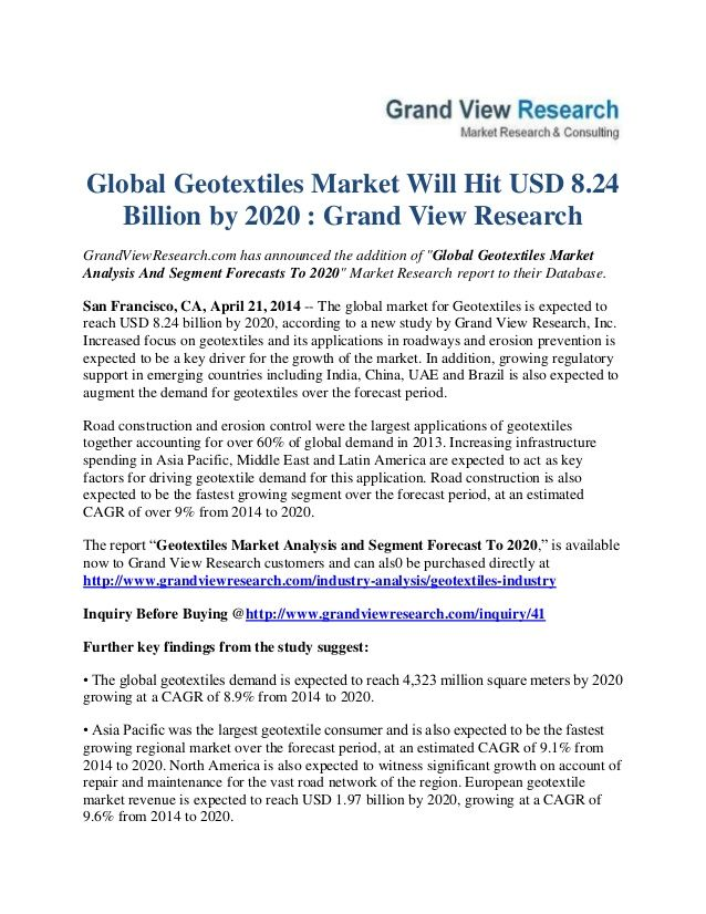 GrandviewresearchCom Has Announced The Addition Of Global