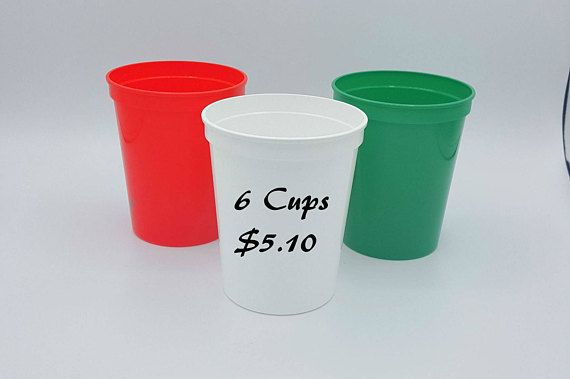 Christmas In July, Company Christmas Party, Christmas Party Supplies, School Christmas Party, DIY Christmas, Flag Of Mexico, Blank Cups