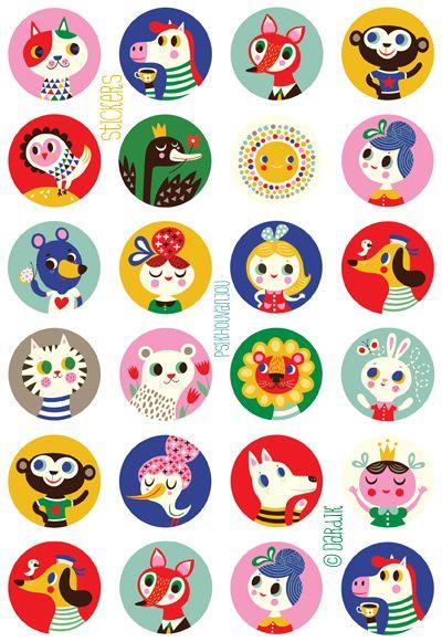 ©Helen Dardik orange you lucky!: you need these cool stickers ! . . .
