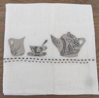 Tea towel linen tea set