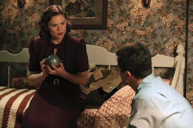 This maroon number, while hanging out with Howard Stark, fighting crime.