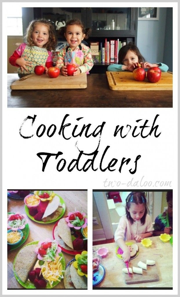 Tips, tricks, and recipes for cooking with toddlers.
