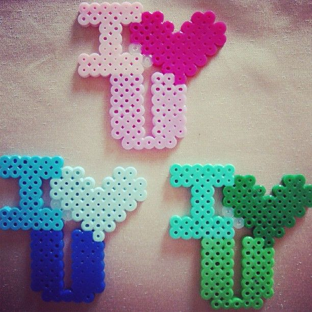 I Love You - hama perler http://mistertrufa.net/librecreacion/culturarte/?p=12